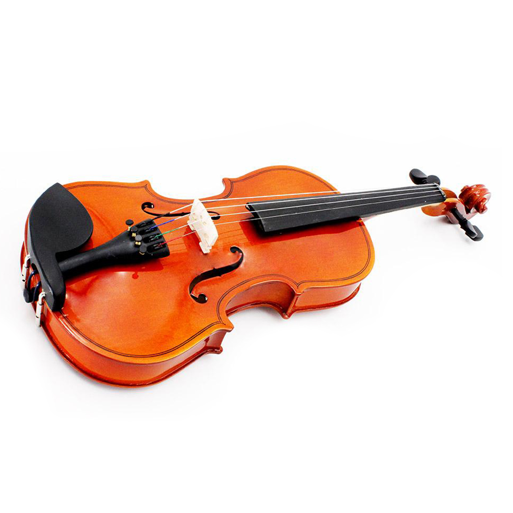 Music-S  Size 1/2 Natural Violin Basswood Steel String Arbor Bow for Kids Beginners handmade new solid maple wood brown acoustic violin violino 4 4 electric violin case bow included