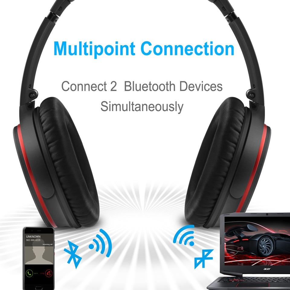 August EP735 Aktive Noise Cancelling Bluetooth Kopfhörer Drahtlose mit Mic Bluetooth 4,1 Stereo ANC Headset für Luft Reise aptX - 3