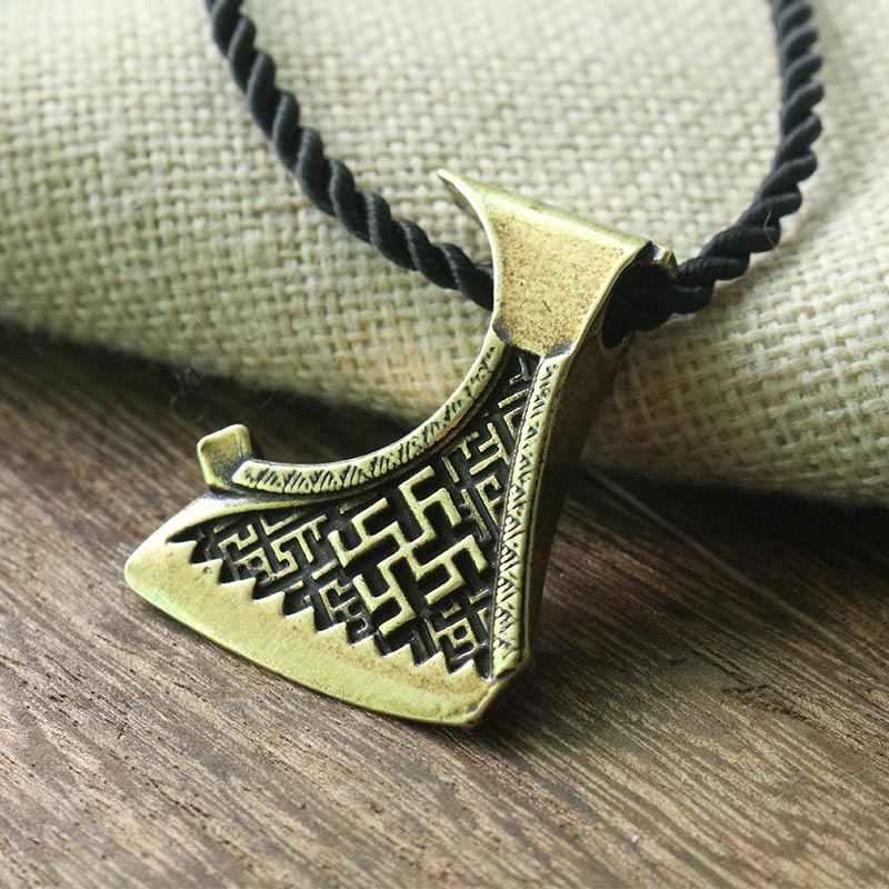 1pcs ขายส่ง slavic ขวานจี้ Dukhobor Amulet Slavic สร้อยคอ perun ขวาน