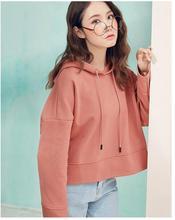 2018 Осенняя мода женские с капюшоном свободные повседневные свитер CF8813