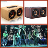 10W Output Portable Speaker Retro Wood Wireless Bluetooth Speaker Mini 3D Dual Loudspeakers Player USB