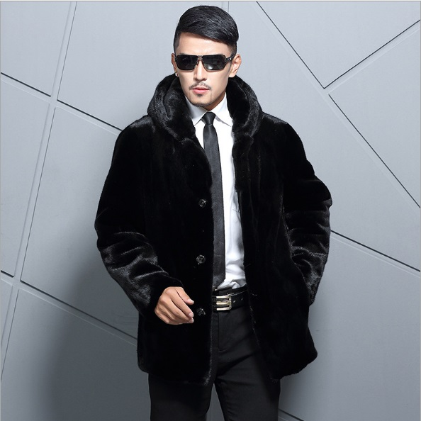 Clobee Business Formal Mens Faux Fur Coat Jackets 2017 Winter ...