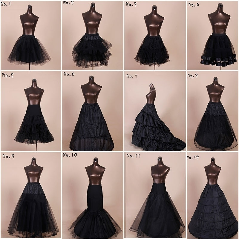 Black A-line Mermaid Wedding Petticoat Crinoline Underskirt Slip TuTu Short