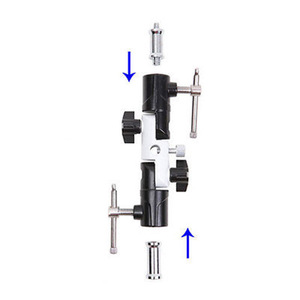 Image 3 - Adjustable Flash Shoe Umbrella Holder Light Stand U shape Bracket  360 Degree Umbrella bracket for diffuser  free shipping!