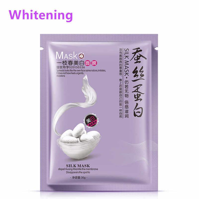 Onespring Perawatan Kulit Wanita Wajah Masker Pelembab Minyak Kontrol Esensi Alam Sutra Protein Masker Wajah Masker Korea Perawatan Kulit