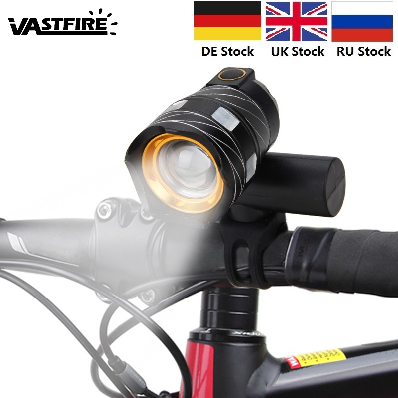 USB Rechargeable 1200 LM XML T6 LED MTB Bike Bicycle Light Headlight Cycle Lamp Flashlight Bike Accessories With USB Line