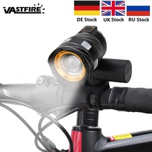 USB Rechargeable 15000LM XML T6 LED Bike Front Light Bicycle Headlamp Headlight dwz black 2000lm xml t6 led rechargeable head lamp front bicycle cycling headlight