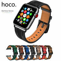 HOCO Cowhide สายหนังแท้สำหรับ Apple Watch 38/40 มม.42/44 มม.สร้อยข้อมือ iWatch 5 4 3 2 1 สายรัดข้อมือ