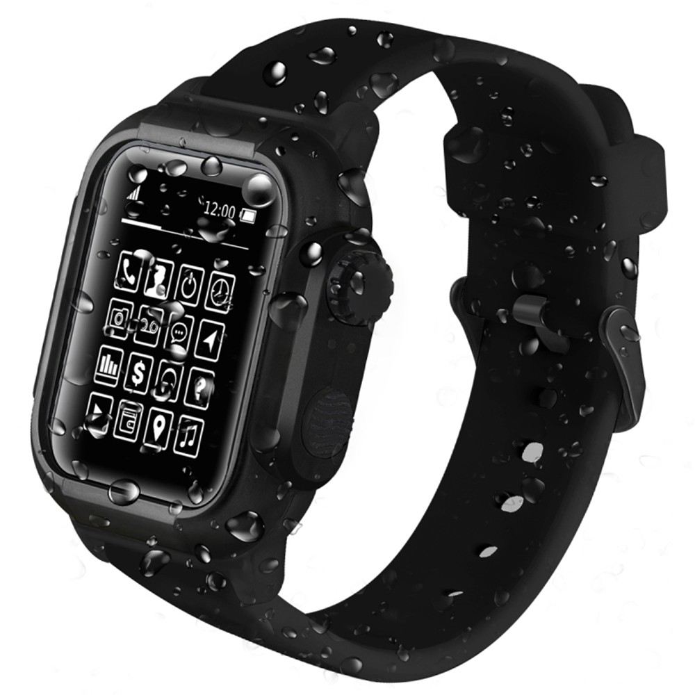 Waterproof Impact Resistant Case For Apple Watch Series 4 3 2 1 Soft Silicone Sport Band for iwatch 44MM Bracelet Strap 42mmWaterproof Impact Resistant Case For Apple Watch Series 4 3 2 1 Soft Silicone Sport Band for iwatch 44MM Bracelet Strap 42mm