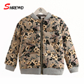 Kids Coats Jackets 2017 New Fashion Floral Printing Girl Winter Jackets Coat Long Sleeve Zipper Kids Clothes Girls 4369W