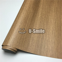 Oak Self Adhesive Vinyl Wood Grain Textured Car Wrap For Wall Furniture Car Interior Size:1.24X50m/Roll(4ftX165ft)