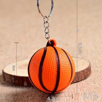Envío gratis por DHL, los más nuevos llaveros de PU con forma de Mini baloncesto, llaveros baratos para regalos deportivos