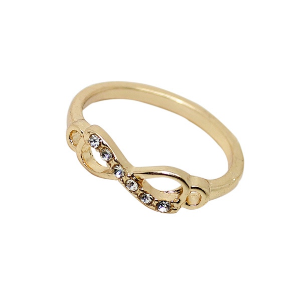 Free Shipping 2014 New Arrival Items High Quality Gold Silver  Infinity Ring R158