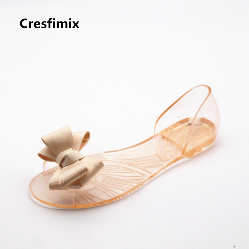 Cresfimix sandalias de mujer women cute spring & summer slip on sandals lady casual transparent sandal shoes female cute sandals baitclothing women cute spring