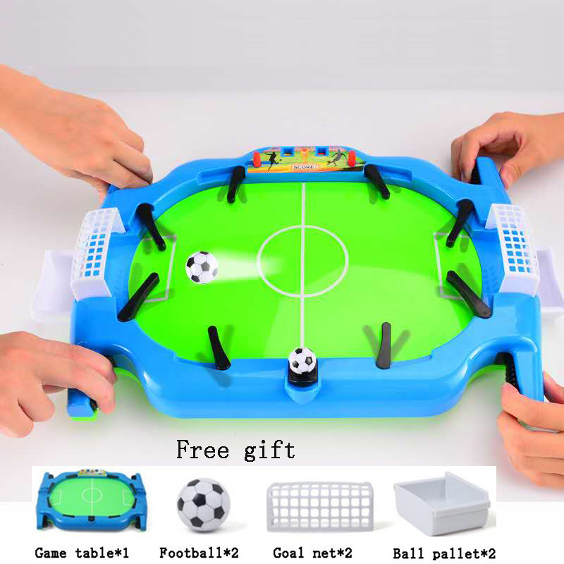 Mini Soccer Table Football Game Foosball Toys Board Training Ejection Double Fighting Novelty Power Shot Skills Indoor Sport soccer skills training