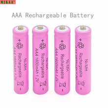 4pcs Aaa Ni-mh 1.2v 7# Rechargeable 1600mah 3a Neutral Battery Bateria