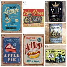 Vintage Metal Iron Painting Signs Poster Plaque Bar Pub Club Wall Vintage Home Decor Plaque 20x30cm