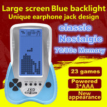 Новая игровая консоль для тетрис с большим экраном и синей подсветкой