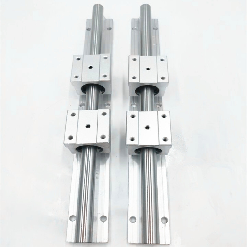 2X SBR16-1200mm 16MM entièrement soutenu tige d'arbre de RAIL linéaire + 4 SBR16UU bloc