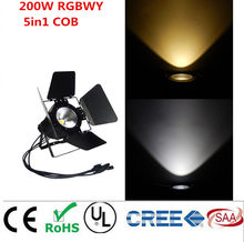 LED par 220W COB RGBWA 5in1/RGBW 4in1/RGB 3in1/ Warm White Cold white UV LED Par Par64 led spotlight dj light Dmx controll(China)