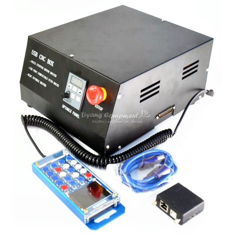 DC Brushless mandrino drive scatola di controllo a 4 assi CNC MACH3 parallet porta per la macchina per incidere