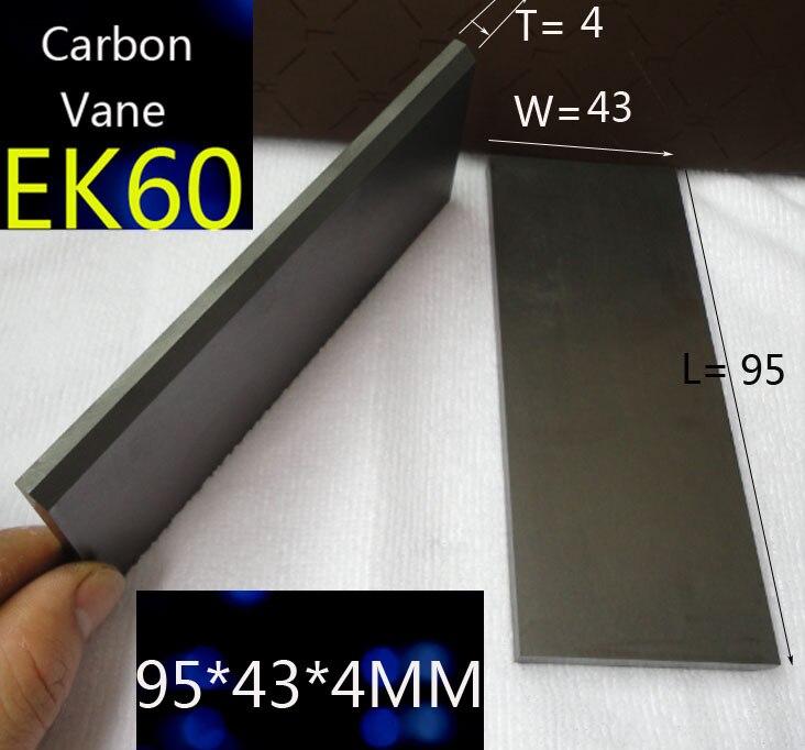 95*43*4 Mm EK60 Carbon Vane Graphite Blad For Becker Vacuum Pumps DT/VT3.40 , DT/VT4.40 , T3.41DSK , Becker Pump Vanes