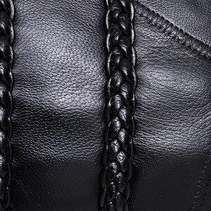 Image 4 - עור נשים תיק אריגת דפוס כבש מיני כתף שקיות גבירותיי מצמדי קלאסי טלפון סלולרי מנות