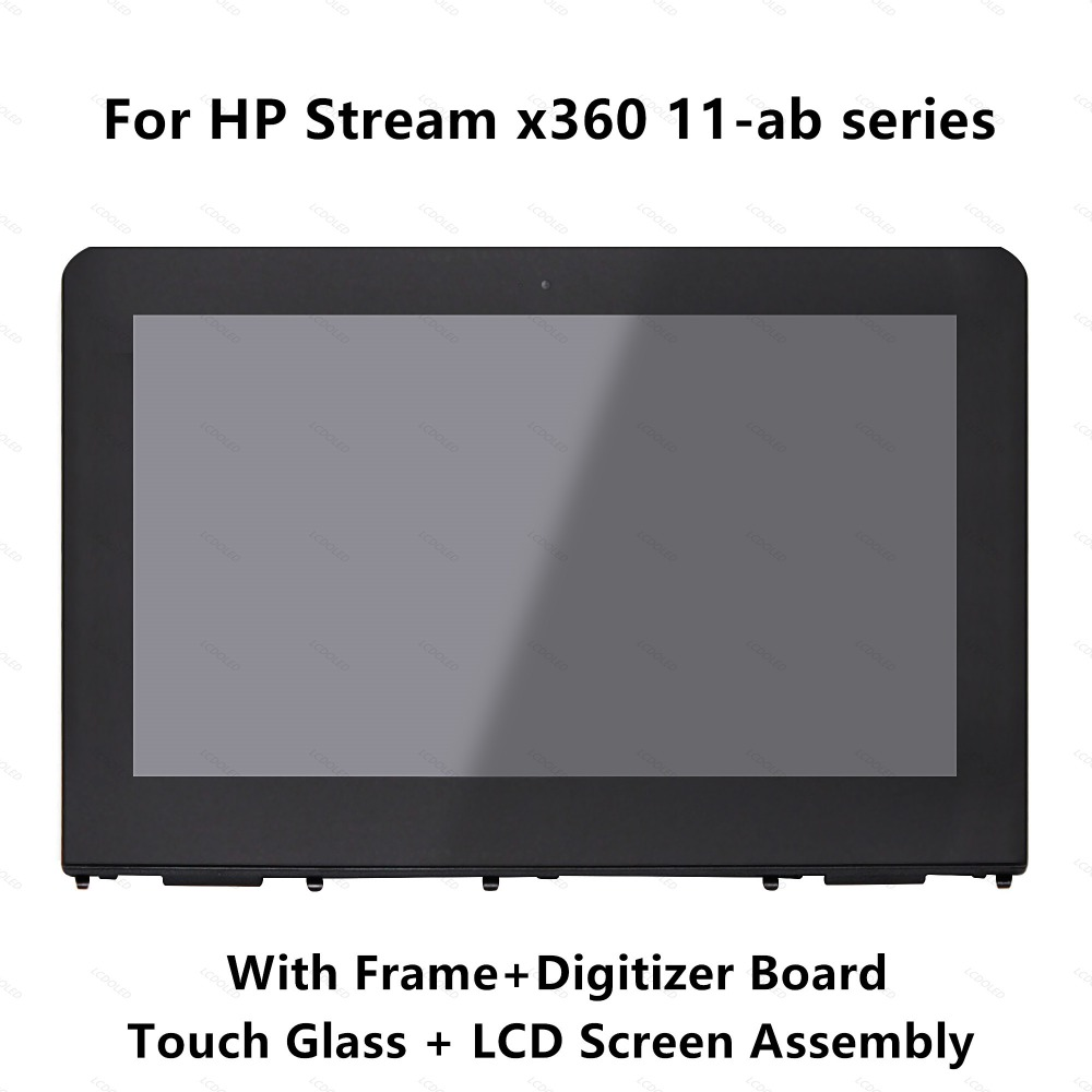 цена For HP Stream x360 11-ab 11-ab103tu 11-ab118tu 11-ab122tu 11-ab162nd Full LCD Display Touch Screen Digitizer Assembly with Frame