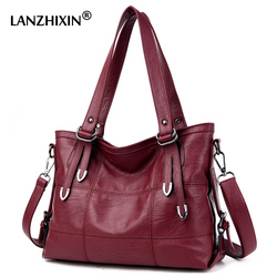 Lanzhixin Women Leather Handbags Designer Soft Shoulder Bags For Women Messenger Bags Crossbody BagsTop-Handle Bags Bolsa 3098