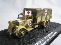 IXO 1/72 Scale Military Model Toys Opel Blitz 3.6 36s Kfz.305 Ambulance Truck Diecast Metal Car Model Toy For Gift/Collection