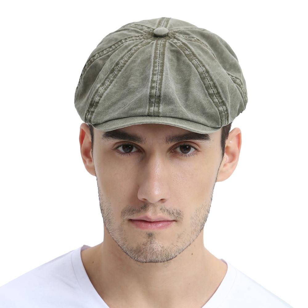Voboom algodón lavado newsboy CAP para mujer para hombre octangle gorra  Gatsby para el verano otoño mujer chica 160 en Vendedor de tapas de  Accesorios de ... 8dcb0f4e1bf