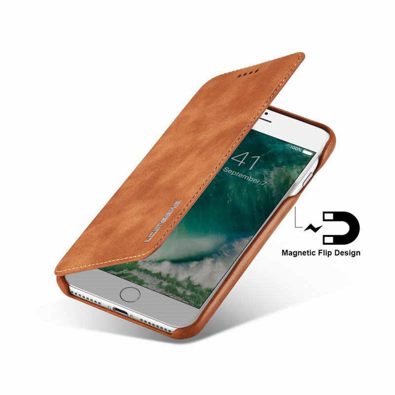 מקרי טלפון עבור iphone 6 S 7 8 6 בתוספת אפל X XS MAX XR מקרה כיסוי יוקרה Flip ארנק מגנטי עור תיק עבור iphone 7 בתוספת Coque