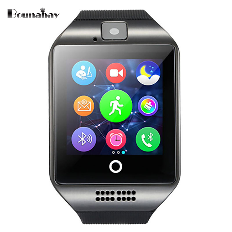 BOUNABAY Smart Bluetooth watches for men original man sports watchs mens waterproof clock android ios phone clocks led watch