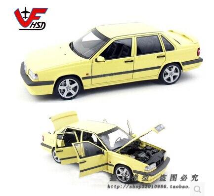 Открытие магазина Volvo 850T-5R Седан Autoart 1:18 желтый Лимитированная коллекция Классических моделей Оригинальный сплав модель автомобиля