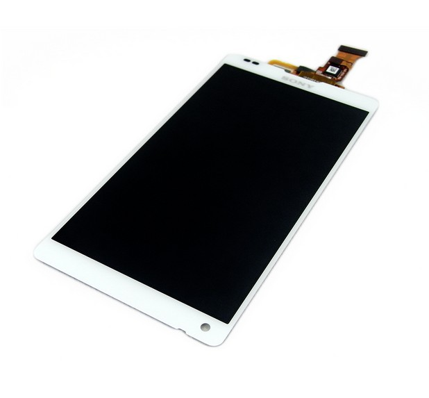 Original White For Sony Xperia ZL L35h C6503 C6502 LCD Display With Touch Screen Digitizer Assembly Free Shipping