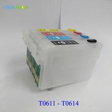 1 Set Empty Refillable Ink Cartridges For Epson T0631 T0632 T0633 T0634 For Epson Stylus C67 C87 CX3700 CX4100 CX4700 Printer orignal new printhead print head for epson cx3500 cx4700 cx5900 cx8300 cx9300 cx4100 cx4200 cx4600 cx4800 cx4850 cx7000 cx5800