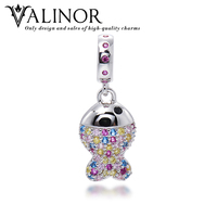 Colorful Flashing Crown 925 Sterling Silver Platinum Plating Beads Charms Fit Bracelets Bangles Never Change Color