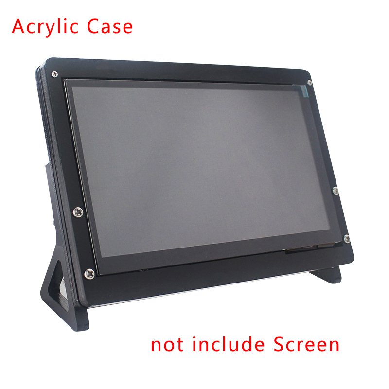 For Raspberry Pi 3 LCD Acrylic Case 7 inch LCD Touch Screen Display Monitor Bracket Case for Raspberry Pi 3 3B Plus 7'' LCD image
