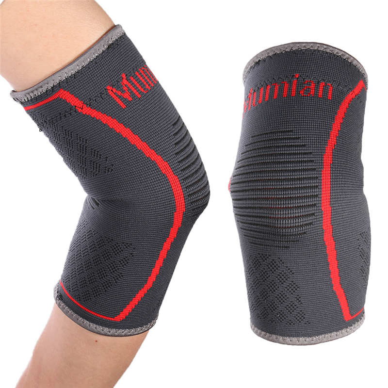 MUMIAN Dropshipping 1*Fitness Kneepads Support Braces Elastic Nylon Sport Knee Pad Sleeve for Basketball Sport Free shipping!