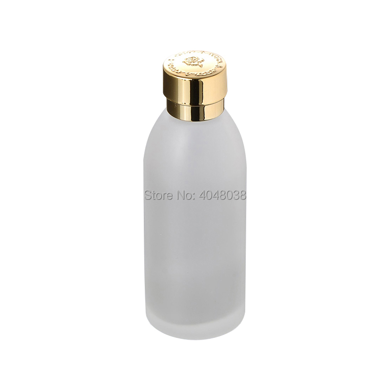Refillable Cosmetic Container Frosted Glass Toner Bottle with Inner Plug Empty Portable Makeup Astringent Refillable 120ML 5 PCS (2)