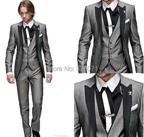 Aliexpress.com : Buy New Classic Men's Grey Tailcoat with Black ...