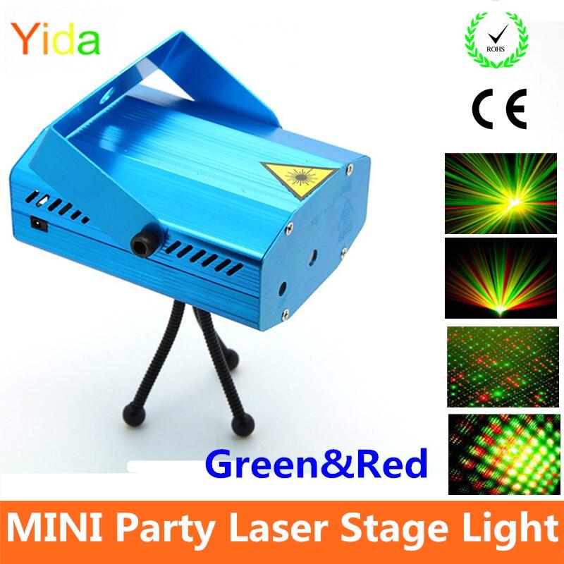 Mini stage sound/auto controled party stroboflash holographic lighting KTV DJ Disco Dance Lights laser projector stroboscopic