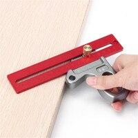 Woodworking Angle Ruler 45/90 Degree Ruler Scribe Gauge Measuring Tool 100/200/300mm TP 0154