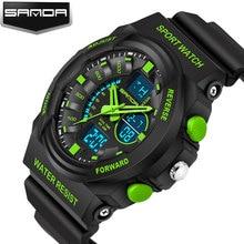 SANDA LED Digital Hombres Reloj de Pulsera Deporte Militar Relojes de Los Hombres 2016 Top Famosa Marca de Lujo Hombre Reloj Relogio masculino Hodinky