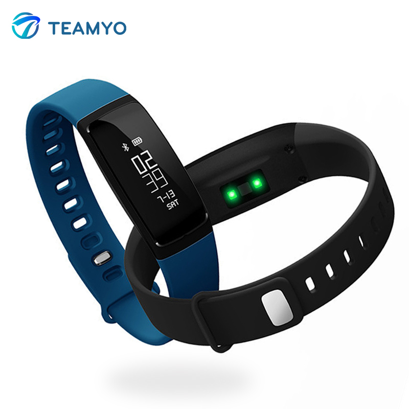 imágenes para Teamyo V07 Presión Arterial Reloj Pulsera heart rate monitor cardíaco Rastreador de Ejercicios stappenteller brazalete Banda Inteligente IP67
