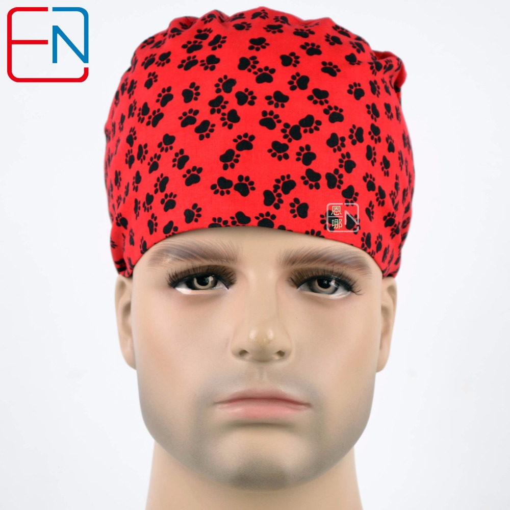 Hennar Surgical Scrub Caps Nurse Doctor Hospital Dentist Medical Caps Masks Clinic Operation Hat Medical Head Accessories Unisex