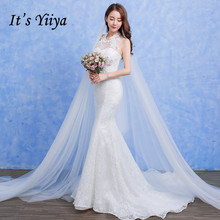 Free shipping Vestidos De Novia Lace White O-neck Beading Wedding Dresses Bridal Frocks Custom Made D92