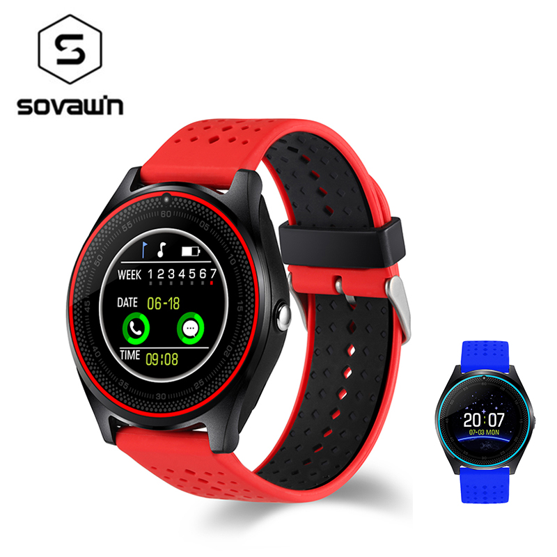 V9 Smart Watch Waterproof Bluetooth Men Women Health Sport Smartwatch Heart Rate Tracker Wearable Wrist Devices For Android IOS