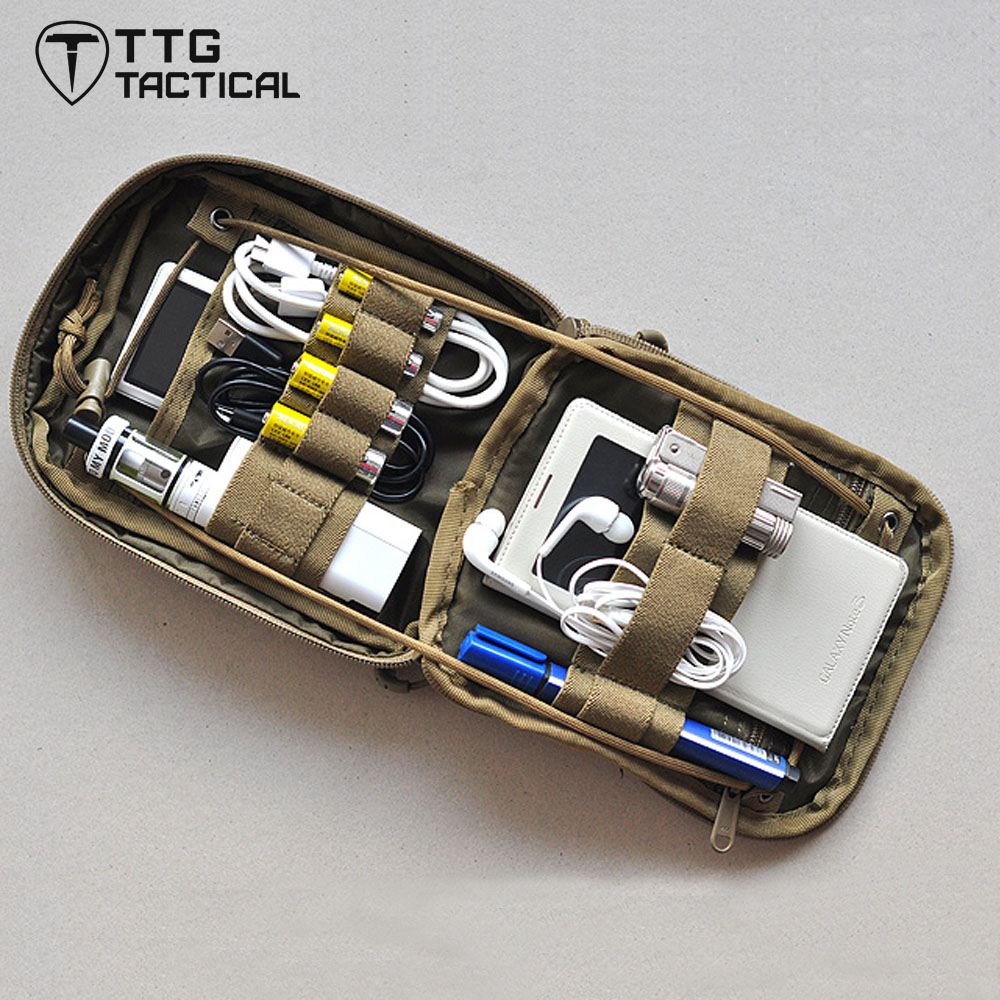 TTGTACTICAL Outdoor Tactical Medical Bags MOLLE Tactical Medical Pouch EDC Survival Emergency First Aid Bags CP Mulitcam