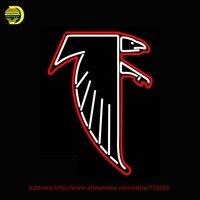 Logotipo DA NFL Atlanta Falcon 1966 Pres Sinal de Néon Neon Lâmpada Luzes De Néon de Vidro Tubo de vidro Artesanal Lâmpada de Néon Esporte Affiche 30x15